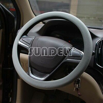 High Quality Car steering wheel cover 36cm - 40cm Silicone Soft Cover, Gray