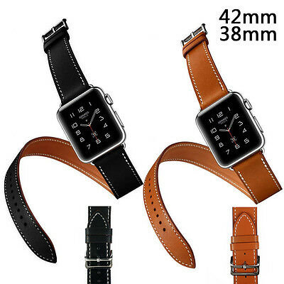 Real Leather Buckle Wrist Watch Belt Bracelet Band Strap For Apple Watch iWatch