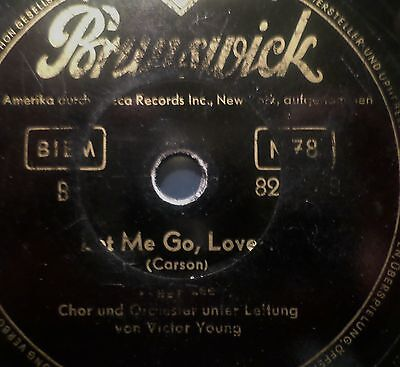 """PEGGY LEE & ORCH. VICTOR YOUNG """"Johnny Guitar / Let Me Go Love"""" Brunswick 78rpm"""