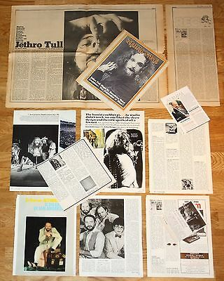 JETHRO TULL clippings 1970s magazine articles photos Ian Anderson rolling stone