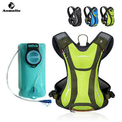 ANMEILU MTB Cycling Running Hydration Vest Backpack Pack + 2L Water Bladder Bag