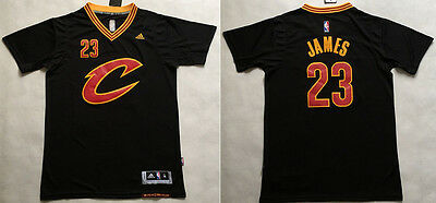 New Cleveland Cavaliers #23 LeBron James basketball Short sleeve Jersey Black