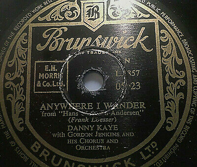 "DANNY KAYE ""Wonderful Copenhagen / Anywhere I Wander"" Brunswick 78rpm 10"""