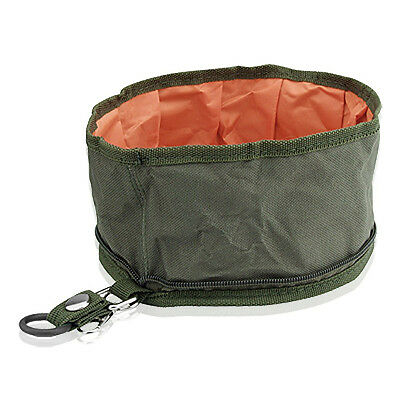 Collapsible Fabric Travel Food Water Bowl for Dog Pet W3X4