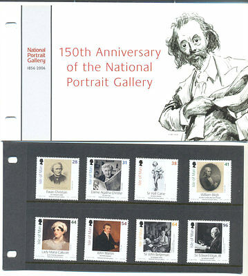 Isle of Man - National Portrait Gallery-Art-Paintings Presentation Pack-mnh