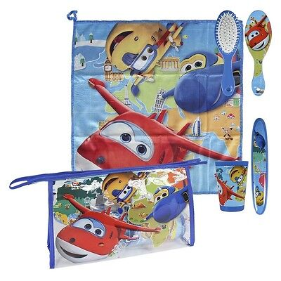 DISNEY Kinder Super Wings Kulturtasche - 5-teilig - Beauty Case - TOP Set!