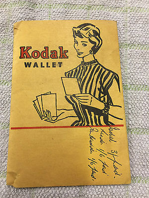 Kodak Film Wallet Vintage, Please See Pictures.