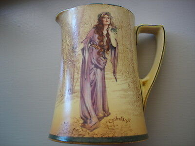 ANTIQUE VINTAGE CHINA ROYAL DOULTON OPHELIA SHAKESPEARE large JUG