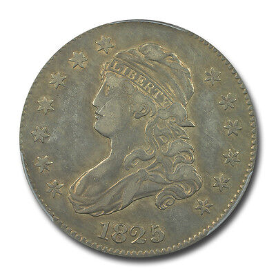 1825/4/(2) 25C Browning 2 Capped Bust Quarter PCGS VF Details B-2