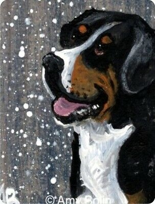 CERAMIC TILE MAGNET RECTANGULAR GREATER SWISS MT. DOG SWISSY   by Amy Bolin