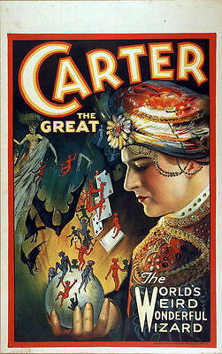 Carter The Great Wonderful Wizard Vintage Magic Advertising Poster Art Print