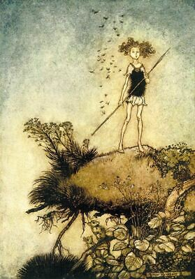 Midsummer Nights Dream V By Arthur Rackham Print Poster Picture Image Art A4