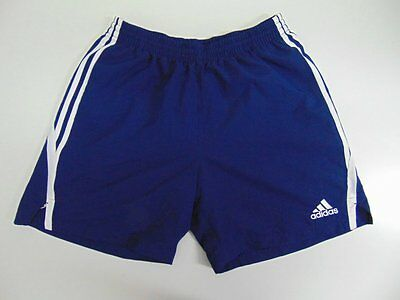 2007 Adidas navy blue Men's shorts retro soccer football running vintage L/192
