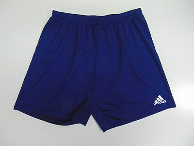 2015 Adidas navy blue Men's shorts retro old soccer football running vintage L
