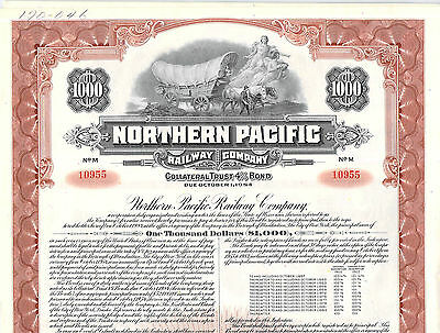 Collection Railroad Railway Stock Bond Certificates Northern Pacific