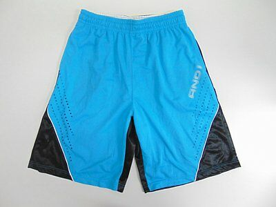 2000 2010 and1 ligth blue Men's shorts retro basketball running vintage L