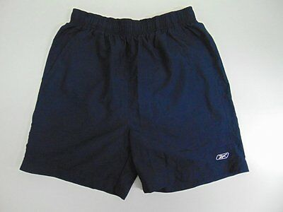 2000 2010 Reebok navy blue Men's shorts retro soccer football running vintage L