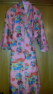 "Vintage Women's Kimono Robe - Length is 52"" Long"