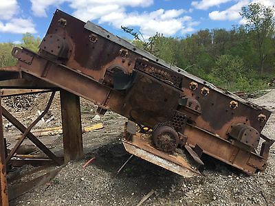Ty-Rock 4'x12' Inclined Double Deck Vibrating Screen; 15 HP w Steel Support;