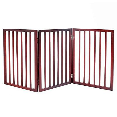 Folding 3 Part Wooden Wet Pet Dog Gate Barrier Floor Muddy Dirty Enclosure NEW