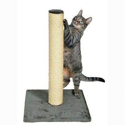 Trixie Parla Scratching Post 62cm Platinum Grey Cat Furniture Play Natural Sisal