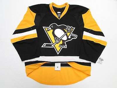 Pittsburgh Penguins Authentic Home Team Issued Reebok Edge 2.0 7287 Jersey Sz 56