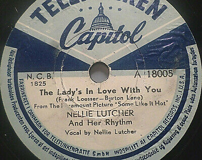 "NELLIE LUTCHER ""Hurry On Down / The Lady's In Love With You"" Telefunken 78rpm"