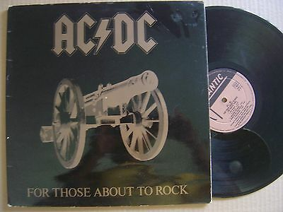 AC/DC for those about to rock UNIQUE INVERT SPANISH COVER LP ATLANTIC 1981 gate