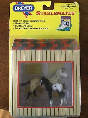 Breyer G1 Stablemates Appaloosa Mare and Foal Set #59973