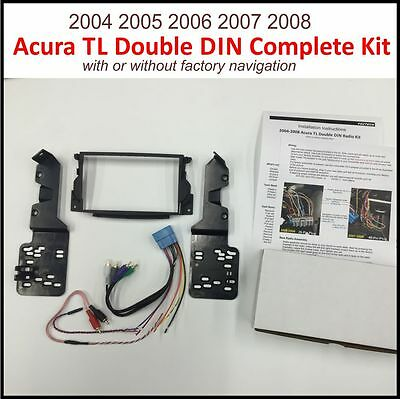 2004-2008 Acura TL Double DIN Radio Dash Kit RETAINS FACTORY NAVI AND SUBWOOFER