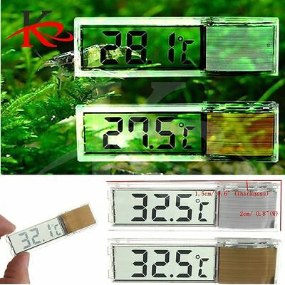 LCD Digital Aquarium Thermometer 3D Fish tank / Room temperature Plastic Sleek