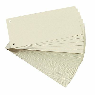 [Ref:10843621-3] Lot de 3 Pqts de 100 intercalaires perforés 105x240mm pour A4