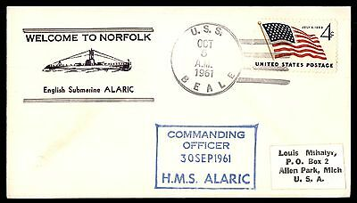 1961 Naval Uss Beale Welcome Hms Alaric Oct 5Th Cover