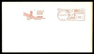 Moorestown Nj Apr 10 1970 Tiros M Weather Comsat Red Cancel On Permit Paid Cover
