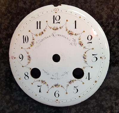 19th Large Fancy Sash French Porcelain Clock Dial 4 inches in diameter