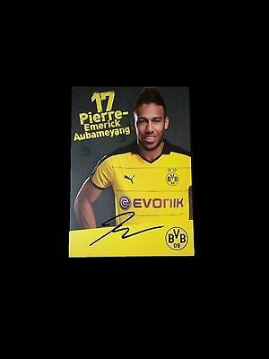 Pierre-Emerick Aubameyang Hand-Signed Autograph Card