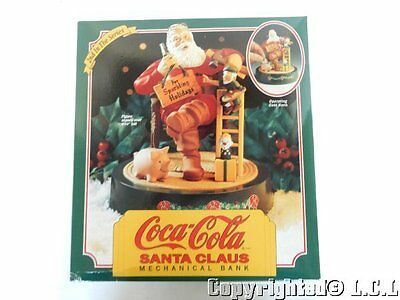 1994 ERTL Christmas Coca Cola Santa Claus Train Mechanical Coin Bank 2nd Piggy