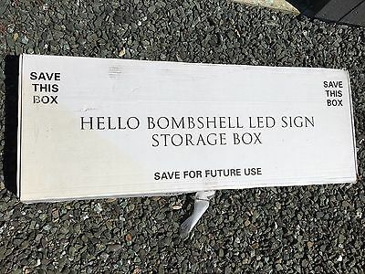 Rare Victoria's Secret Store Display Hello Bombshell! Light Up Lighted Sign Pink