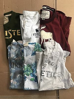 Mens Lot of 6 Abercrombie-Hollister Short Sleeve T-shirts, Sizes: Small.