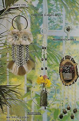 Hanging Owl Pattern Vintage Macrame Show and Tell for Beginners Vol 1 Book ST1