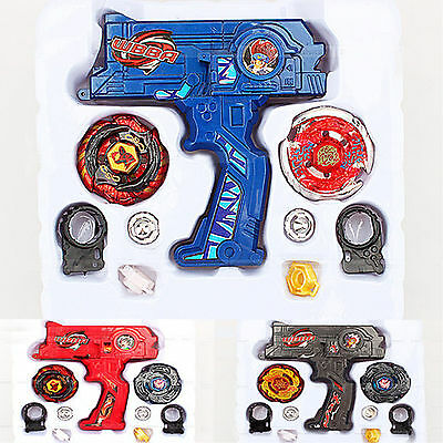 Metal Master Fusion Top Rapidity Fight Rare Beyblade 4D Launcher Grip Set New