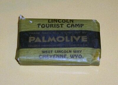 Scarce Vintage Lincoln Tourist Camp Cheyenne Wyoming Palmolive Miniature Soap