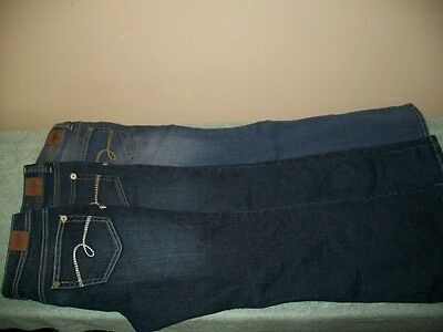 Lot of 3 Girls Youth  Distressed Denim Boot Cut Jeans Size 10 1/2