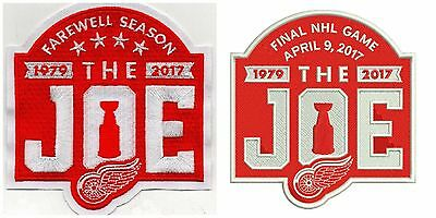 "2016-17 Red Wings 2 Patch Set April 9Th Final Game & Farewell Season ""the Joe"""