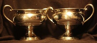 Revere Weighted Sterling Silver Creamer & Sugar Bowl