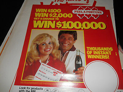 1983 Coca-Cola Peel A Fortune $100,000 contest Joe Namath Sally Struthers Poster