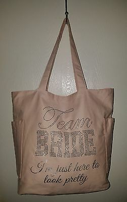 Team Bride Tote w/Bling by icing New