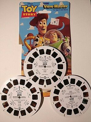 TYCO Disney Toy Story Woody & Buzz VTG 1995 View-Master 3-D 3 Reels 21 Pictures