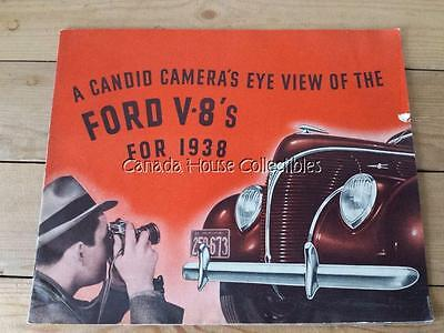 RARE Canadian 1938 Ford V8 'Candid Cameras Eye View' Sales Brochure Catalog
