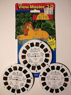 TYCO Disney The Lion King Simba VTG 1994 View-Master 3-D 3 Reels 21 Pictures